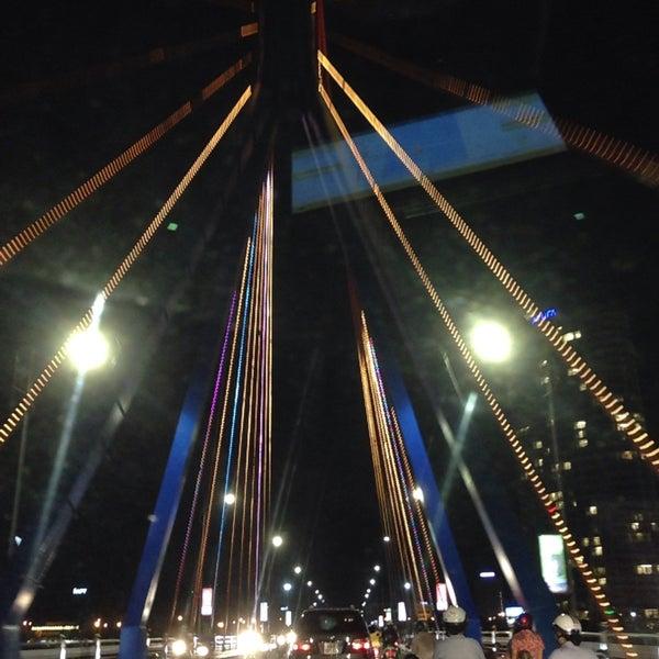 Photo taken at Han River Bridge by Hjortur S. on 7/27/2016