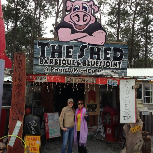 Photo taken at The Shed Barbeque and Blues Joint by Editha C. on 2/9/2013