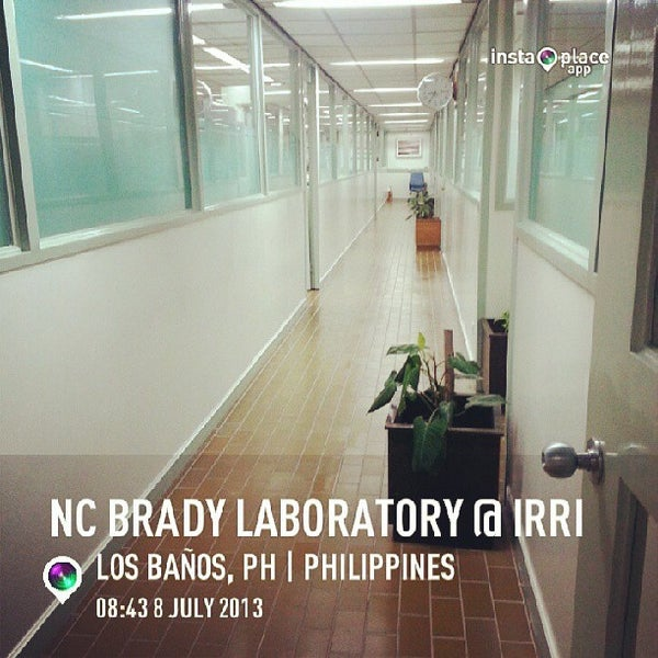 Photo taken at NC Brady Laboratory @ IRRI by Nadine T. on 7/8/2013