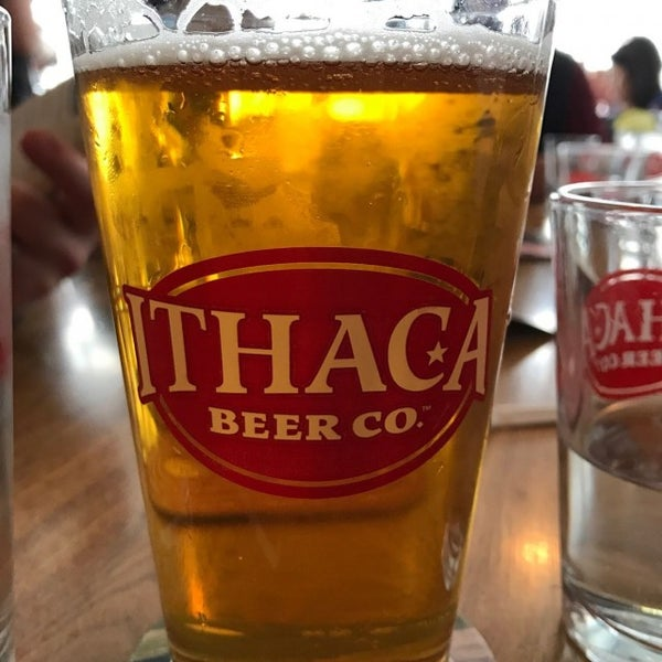Photo taken at Ithaca Beer Co. Taproom by Christine S. on 3/18/2017