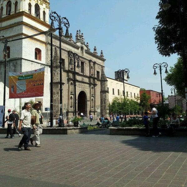 Photo taken at Jardín Hidalgo by Joab G. on 6/8/2013