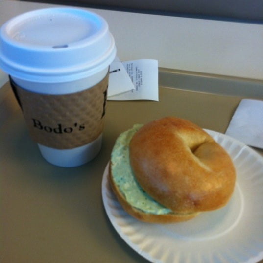 Photo taken at Bodo's Bagels by Carl S. on 9/14/2012