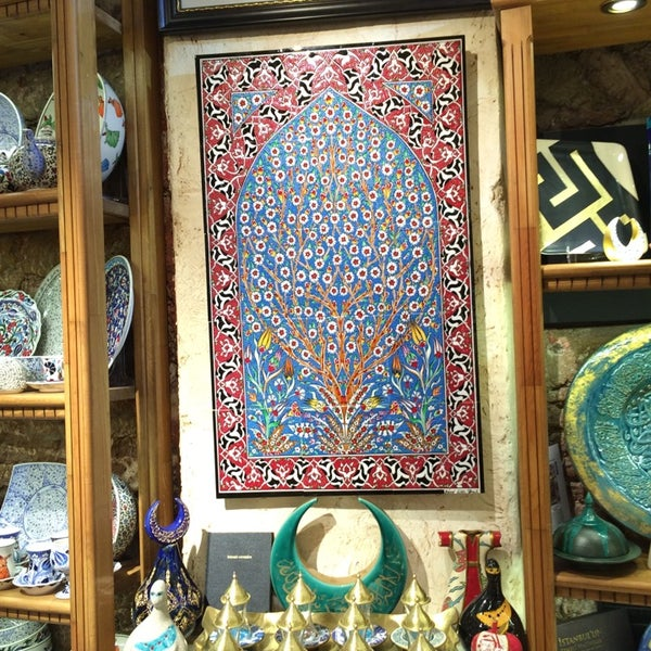 Beautiful and quality selection of iznik tiles and pottery offered in the Grand Bazaar.