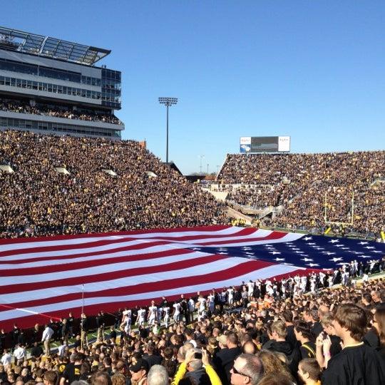 Photo taken at Kinnick Stadium by Mark S. on 11/10/2012
