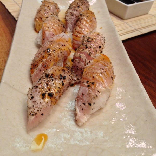 Go see Jeff at the sushi bar and ask him for his special seared albacore sushi dish. Delish!