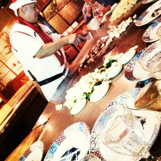 Photo taken at Mt. Fuji Japanese Steak House by Gregory L. on 10/1/2012