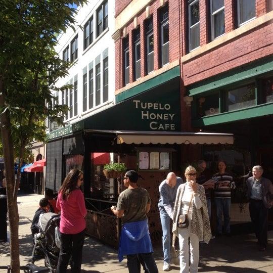 Photo taken at Tupelo Honey by Yelena P. on 10/11/2012
