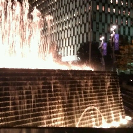 Photo taken at Campus Martius by Ashley K. on 9/30/2012