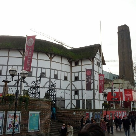 Photo taken at Shakespeare's Globe Theatre by Damian K. on 1/26/2013