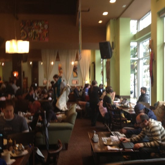 Photo taken at Busboys and Poets by Dean C. on 10/30/2012