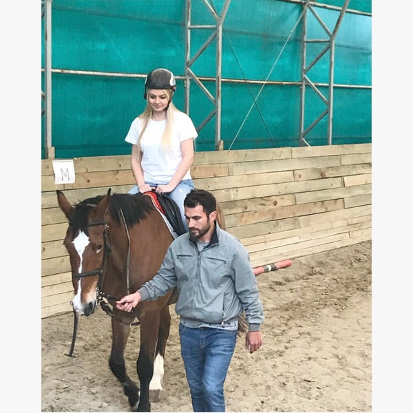 4/7/2018 tarihinde Çiğdem E.ziyaretçi tarafından Olimpos At Çiftliği'de çekilen fotoğraf