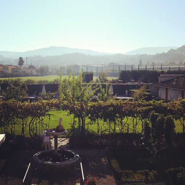 Photo taken at Villa Olmi Firenze by Natasha O. on 9/27/2014