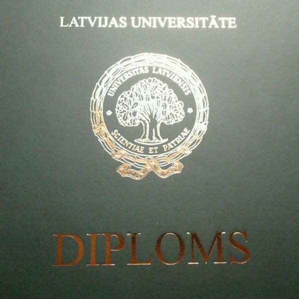 Photo taken at University of Latvia by Anna K. on 4/3/2013