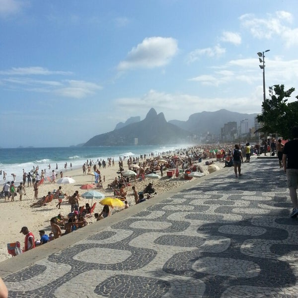Photo taken at Ipanema Beach by Anderson V. on 7/21/2013