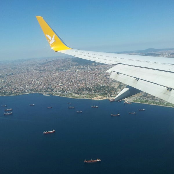 Photo taken at Istanbul Sabiha Gökçen International Airport (SAW) by Caner Ü. on 7/24/2013
