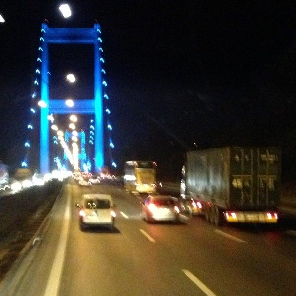 Photo taken at Fatih Sultan Mehmet Bridge by Perihan S. on 7/12/2013