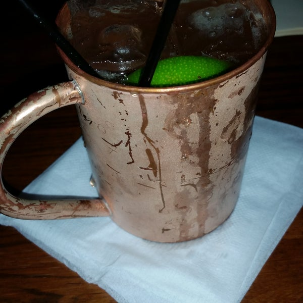 Very eclectic, loved the live band, made for a fun Tuesday evening..here's my Moscow Mule