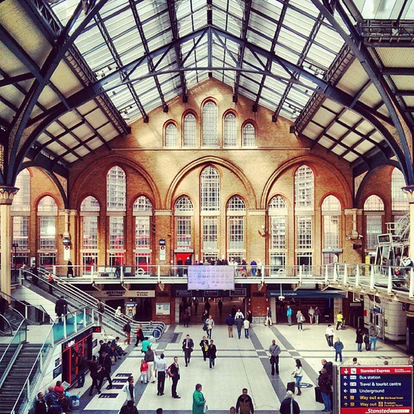 Photo taken at London Liverpool Street Railway Station (LST) by Omid S. on 9/10/2013