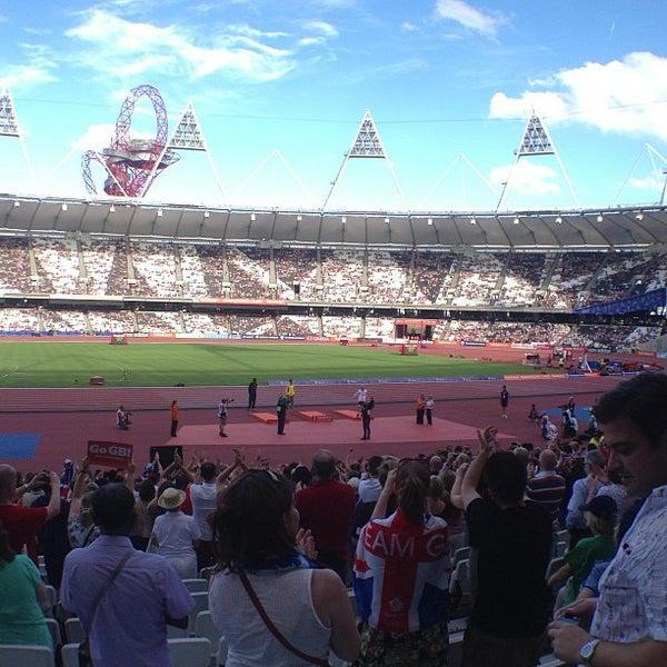 7/28/2013 tarihinde Neil B.ziyaretçi tarafından Queen Elizabeth Olympic Park'de çekilen fotoğraf
