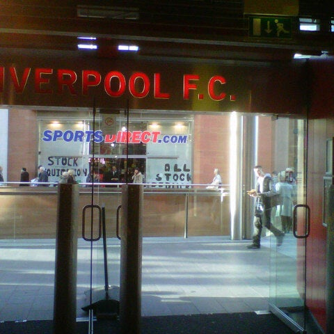 Photo taken at Liverpool FC Official Club Store by Yorki H. on 12/8/2012