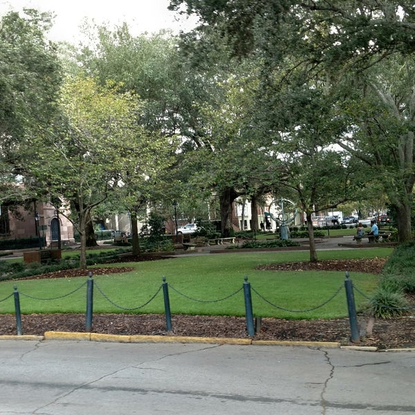 Troup Square Park In Savannah