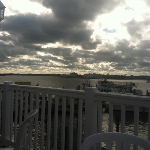 Photo taken at Marina Deck Resturant by Leah O. on 9/28/2013
