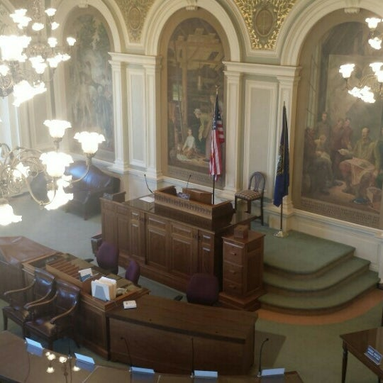Photo taken at New Hampshire State House by Jared C. on 4/13/2016