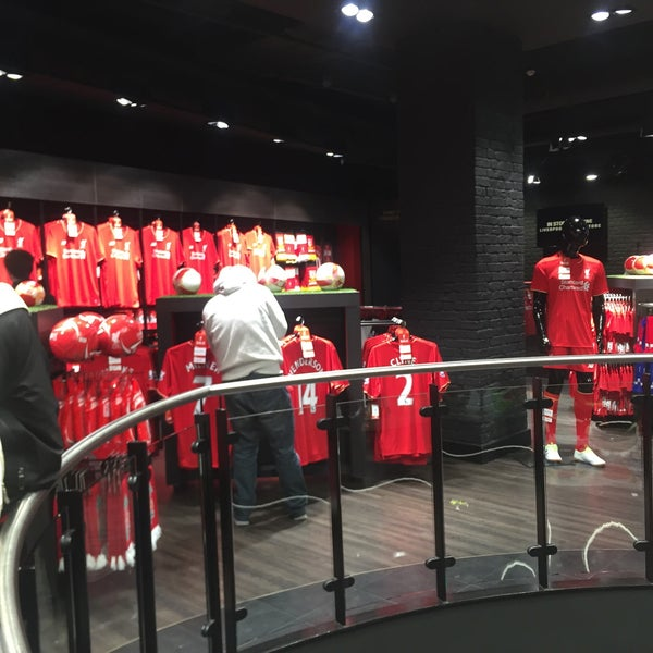 Photo taken at Liverpool FC Official Club Store by wwanwann on 4/16/2016
