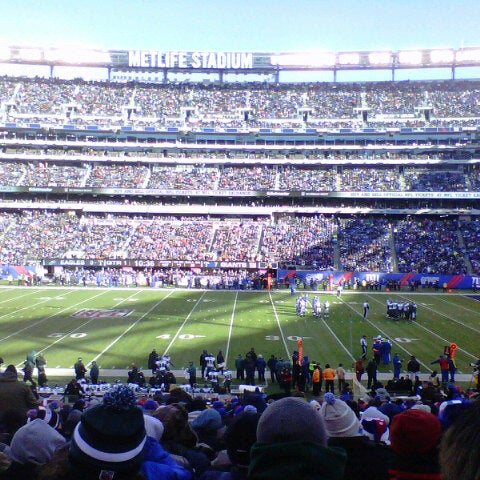 Photo taken at MetLife Stadium by Alessandra D. on 12/30/2012