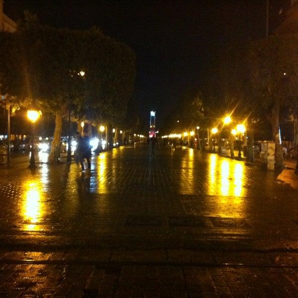 Photo taken at Avenue Habib Bourguiba by Rabii K. on 1/25/2013