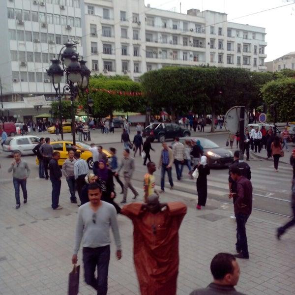 Photo taken at Avenue Habib Bourguiba by Inès :. on 5/16/2013
