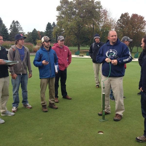 Photo taken at Penn State Golf Courses by Penn State Turfgrass on 10/8/2012