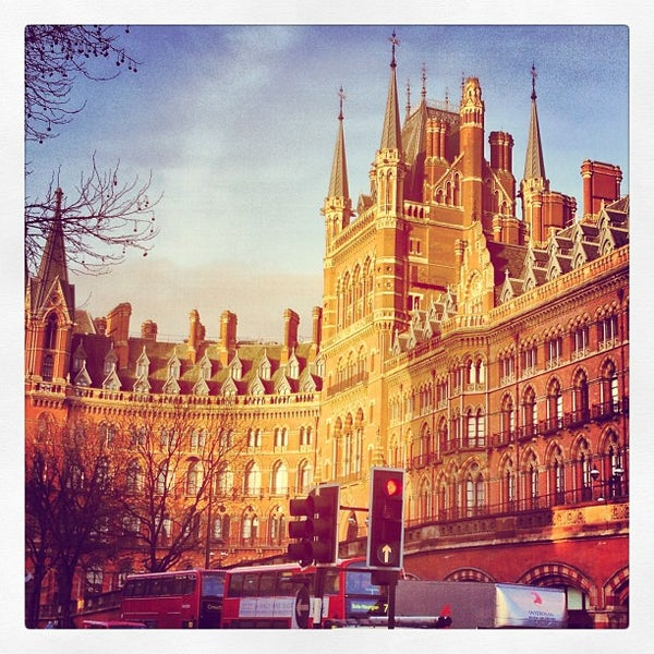 Photo taken at London St Pancras International Railway Station (STP) by Stephen B. on 1/26/2013