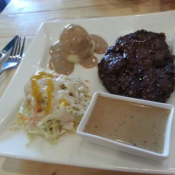 medium well ribeye steak.... terbaek 👍