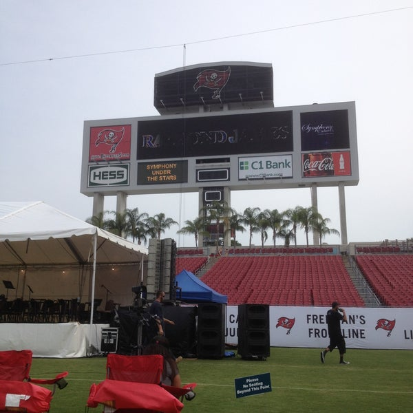 Photo taken at Raymond James Stadium by Manuel L. on 5/11/2013