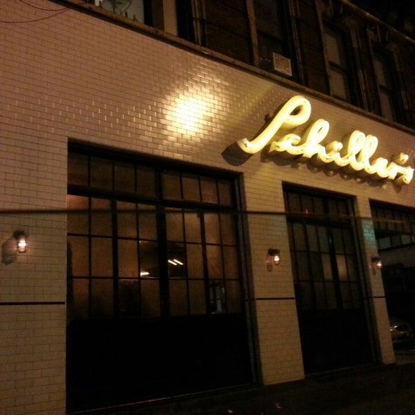 Photo taken at Schiller's Liquor Bar by Rafaela P. on 5/19/2013