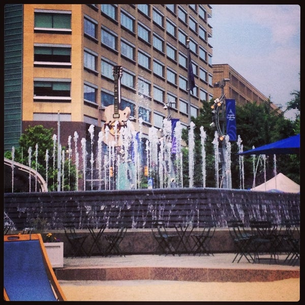 Photo taken at Campus Martius by Tiffany K. on 6/22/2013