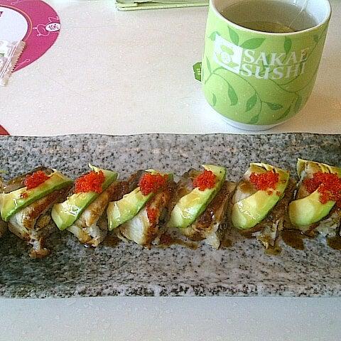 Photo taken at Sakae Sushi by Siswi H. on 3/3/2013
