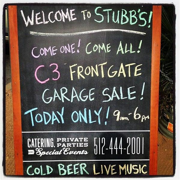 Photo taken at Stubb's Bar-B-Q by Motts D. on 12/8/2012