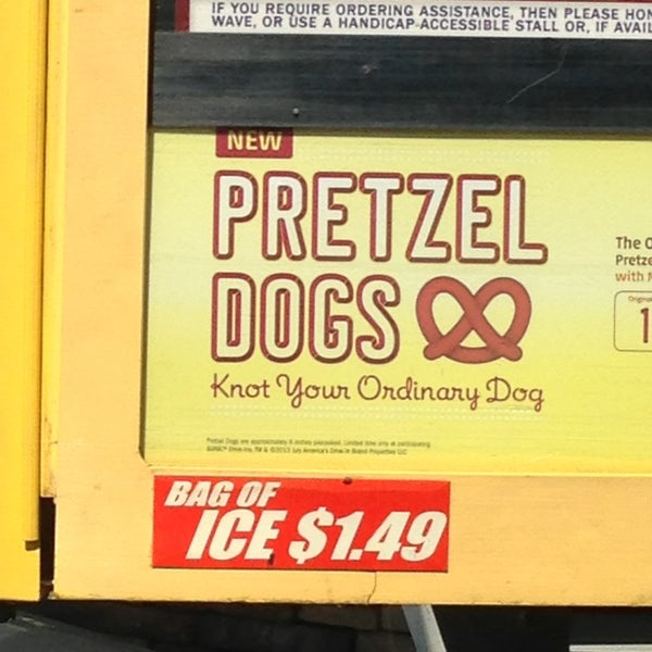 I'd like 10 orders of your pretzel dogs and 32 orders of your tasty bags of ice.