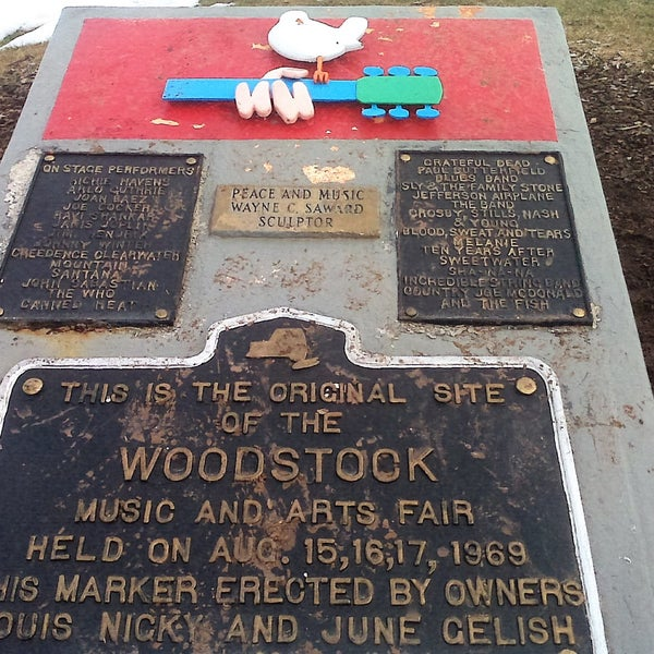 Photo taken at Woodstock Festival Concert Site/Monument by Jeff S. on 12/10/2016