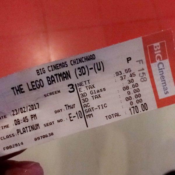 Photo taken at Big Cinemas by Shravan P. on 2/23/2017