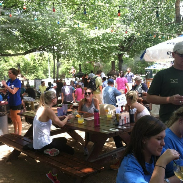 Photo taken at Katy Trail Ice House by Jayne on 7/27/2013