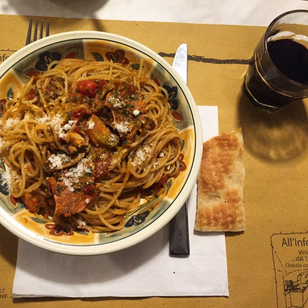 Photo taken at Osteria All'Inferno Dal 1905 by Hulya M. on 1/18/2016