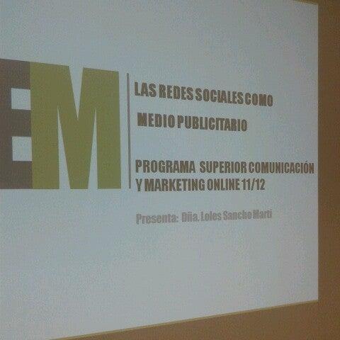 Foto tomada en IEM Business School por Loles S. el 12/22/2012