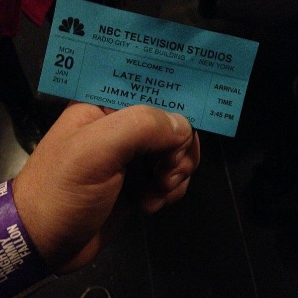 Foto tirada no(a) Late Night with Jimmy Fallon por Anthony A. em 1/20/2014