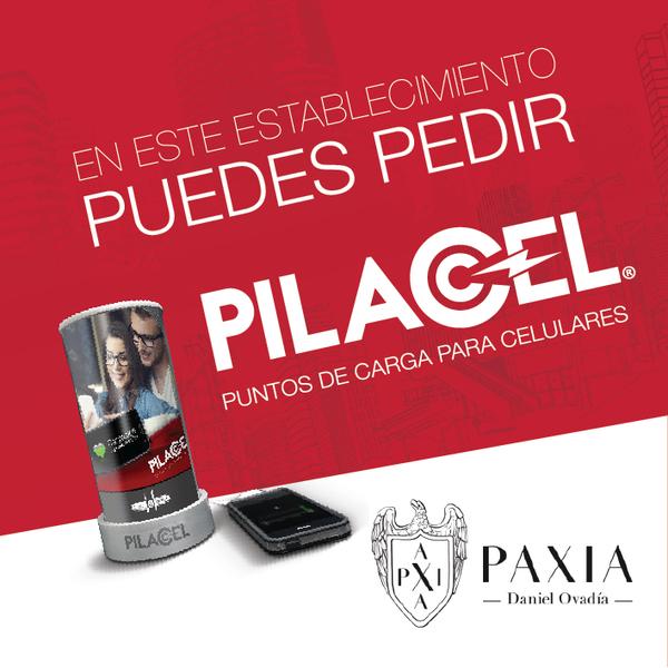 Carga tu celular con PILACEL en Paxia