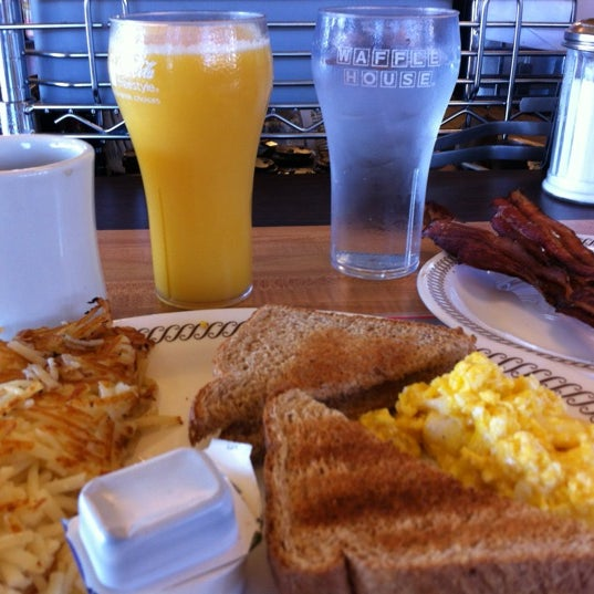 Photo taken at Waffle House by Brandon B. on 10/29/2012