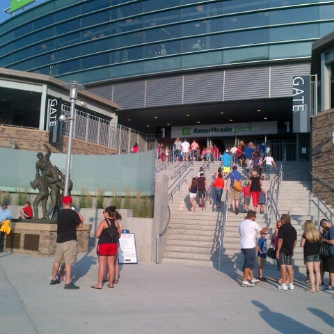Photo taken at TD Ameritrade Park by ANDY W. on 7/4/2013