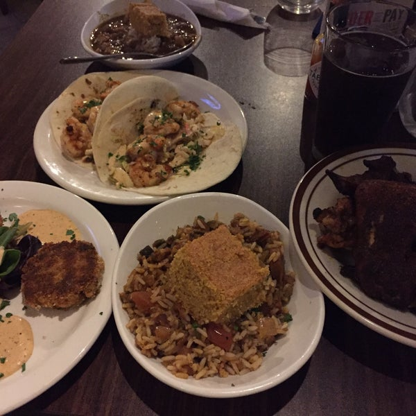 We had a bit of everything. The gumbo and smoked wings were the highlight.